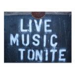 Live Music Tonite Postcard