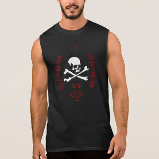Live nearly - which read - skull & bones sleeveless shirt