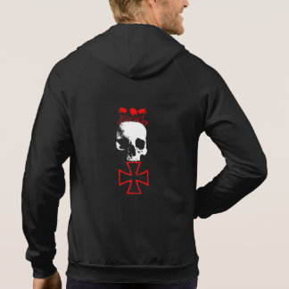 Live nearly - which read - skull&cross hoodie