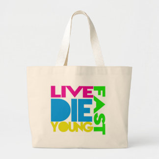 Live nearly young jumbo tote bag