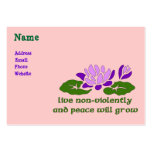 Live Non-Violently Large Business Cards (Pack Of 100)