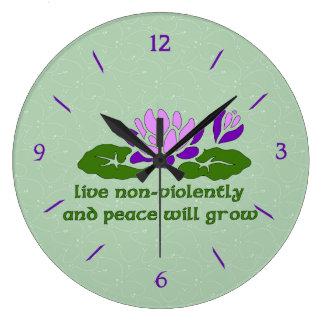 Live Non-Violently Clock