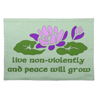 Live Non-Violently Placemat