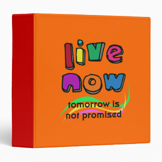 """LIVE NOW 1.5"""" Ring Binder"""