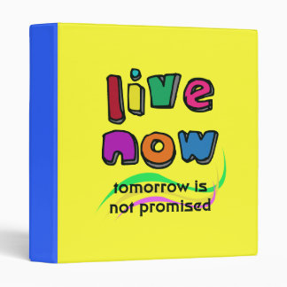 """LIVE NOW 1"""" Ring Binder"""