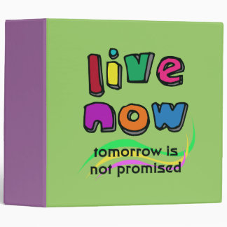 """LIVE NOW 2"""" Ring Binder"""