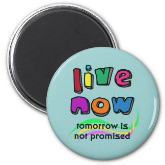 LIVE NOW 2 INCH ROUND MAGNET