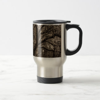 Live Oak and Spanish Moss in Sepia Tones Travel Mug