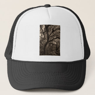 Live Oak and Spanish Moss in Sepia Tones Trucker Hat