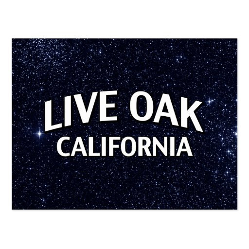 Live Oak California Post Card