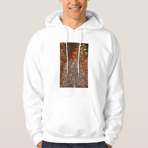 Live Oak Florida Tree Christmas Lights Zoom Hooded Sweatshirts