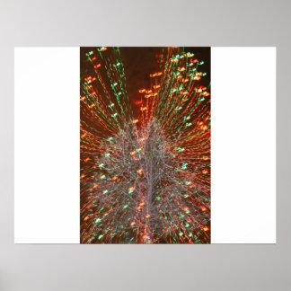 Live Oak Florida Tree Christmas Lights Zoom Poster