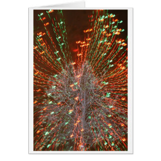 Live Oak Florida Tree Christmas Lights Zoom Stationery Note Card