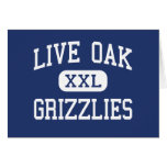 Live Oak Grizzlies Middle Tulare California Greeting Cards