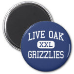 Live Oak Grizzlies Middle Tulare California Magnet