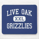 Live Oak Grizzlies Middle Tulare California Mouse Pads