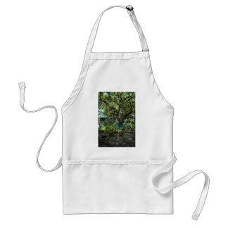 Live Oak Tree and Classic Bicycle Adult Apron