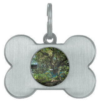 Live Oak Tree and Classic Bicycle Pet Tag