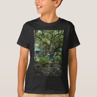 Live Oak Tree and Classic Bicycle T-Shirt