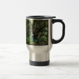 Live Oak Tree and Classic Bicycle Travel Mug
