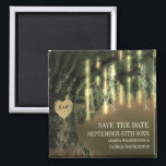 """Live Oak Tree Spanish Moss Save the Date Magnets<br><div class=""""desc"""">Live Oak Tree Spanish Moss Save the Date Magnets - features a vintage background with a live oak tree that you can &quot;carve&quot; your initials into. Spanish moss and vertical string lights hang from branches. See the full gorgeous matching collection of this design on this page.</div>"""