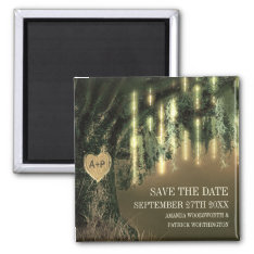 Live Oak Tree Spanish Moss Save The Date Magnets at Zazzle