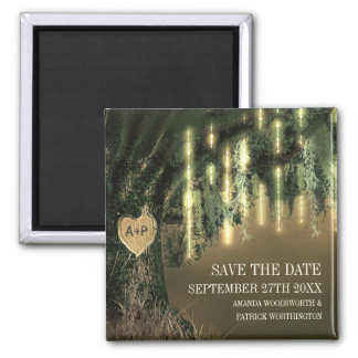 Live Oak Tree Spanish Moss Save the Date Magnets