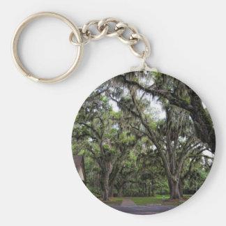 Live Oak Tree With Spanish Moss Keychain