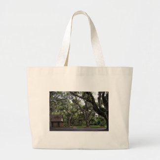 Live Oak Tree With Spanish Moss Large Tote Bag