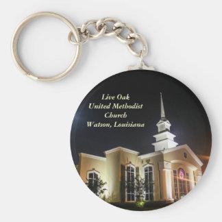 Live Oak United Methodist Church Night Keychain