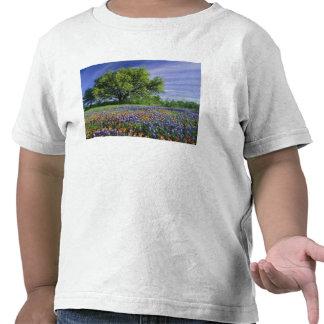 Live Oak y brocha de Tejas, y Tejas Camiseta