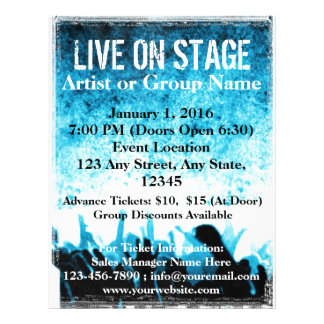 Live On Stage Blue Worship Flyer