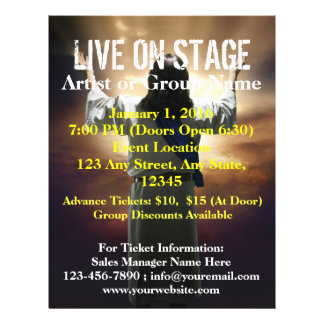 Live On Stage Easter Worship Flyer