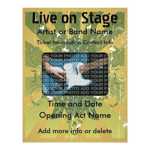 Live on Stage Grunge Music Flyer flyer
