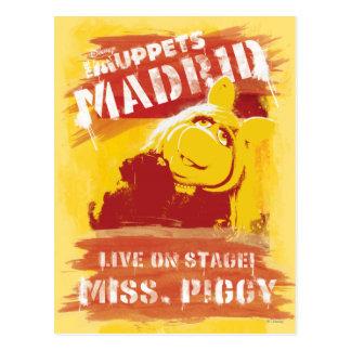 Live on Stage! Miss Piggy Postcard