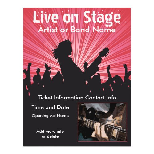 Live on Stage Music Flyer flyer