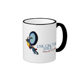 LIVE ON THE EDGE-LEAVE THE RULES BEHIND RINGER MUG