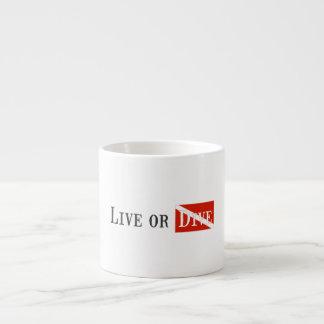 Live or Dive 6 Oz Ceramic Espresso Cup