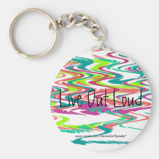 Live out loud keychain