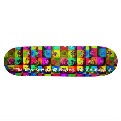"""""""Live Out Loud Swirl"""" Skate Board Decks"""