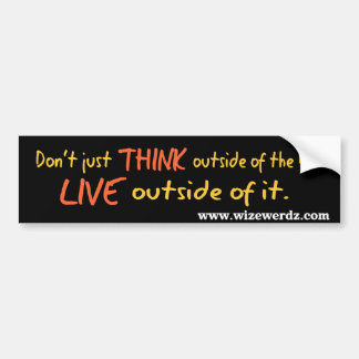 Live Outside the Box sticker Car Bumper Sticker