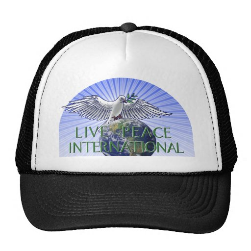 Live Peace International Logo Trucker Hat