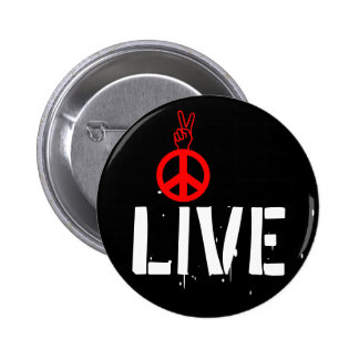 Live Peace - Strawberry Fields NYC Pinback Button