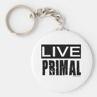 live primal / paleo diet basic round button keychain