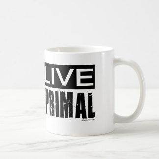 live primal / paleo diet classic white coffee mug