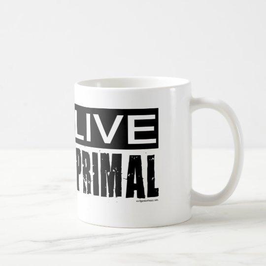 live primal / paleo diet coffee mug