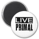 live primal / paleo diet fridge magnet