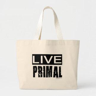 live primal / paleo diet jumbo tote bag