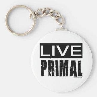 live primal / paleo diet keychain
