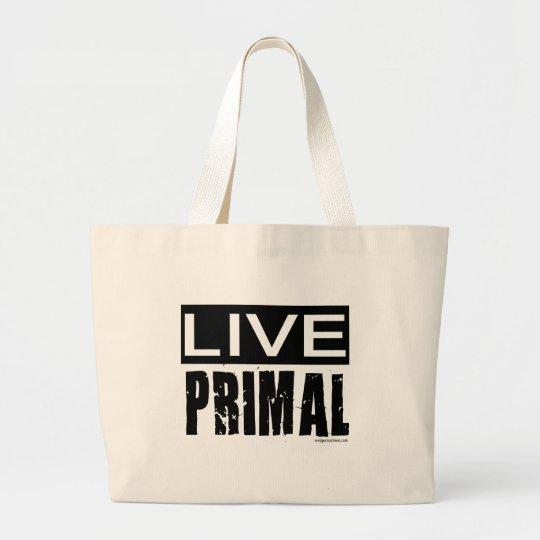 live primal / paleo diet large tote bag